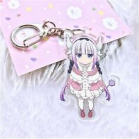 Anime Miss Kobayashi's Dragon Maid Kanna Keychain Key Ring Pendants Collection