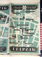 Plan der Messestadt Leipzig 1:14000 Hrsg. Leipziger Messeamt Preis in RM - 1948