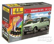 Maquette a monter Renault 4 GTL Heller neuve echelle 1:24 avec colle peintures
