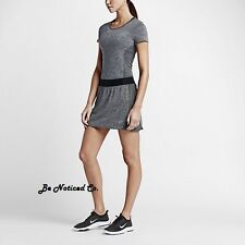 Nike Converge Seamless Women's Golf Skort Skirt XS Black Gray Gym Training New