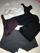 Dancewear LOT Adult Size XS S Jo & Jax Booty Shorts Bra Tops Motionwear Danskin