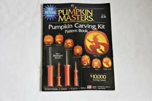 Halloween Pumpkin Masters Pumpkin Carving Kit 4 Tools 9 Patterns New in Package