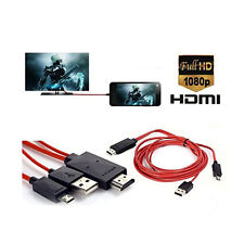 MHL MICRO USB a HDMI 1080P HD TV ADATTATORE PER SAMSUNG GALAXY S5 S4 S3