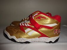 Reebok Gold & Red The Pump basketball shoes size 11 EUC! L@@K!