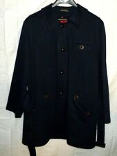 Vintage Harbor Master Trench Coat 46 Removable Wool Liner Raschel Warp Knit