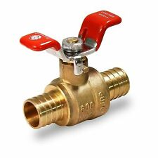 12 Inch Full Port Pex Barb Ball Valve Water Shut Off With Tee Handle Brass