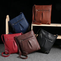New Womens Handbag Leather Satchel Cross Body Shoulder Messenger Bag Stylish