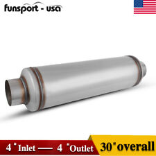 "4"" Inlet/Outlet 30"" inch Overall Performance Diesel Muffler Exhaust / Resonator"
