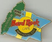 Hard Rock Cafe STOCKHOLM 1999 NATIONAL DAY PIN Flag with Green Map - HRC #9283