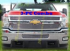 2014 14 Chevy Silverado 2500 3500 2500HD 3500HD Billet Grille 3PC Combo