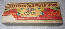 Queer Creek Oil & Water sharpening stone Pike paper label