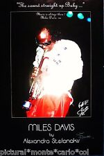 ALEXANDRA*STEFANAKIS*MILES*DAVIS*AFFICHE*MUSEE*1986*PHOTO*MUSEE*RARE*COLLECTOR