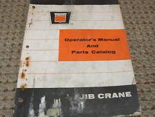 Oliver White Tractor JIB Crane Dealer's Parts Book