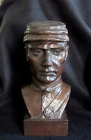 Bronze Lost Wax Cast Sculpture Portrait Civil War Soldier Modern Art Foundry