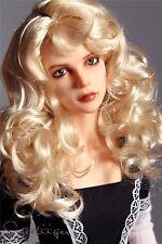 """8-9"""" 1/3 BJD wig Hair SD IH EID SID doll wig Super Dollfie Blonde curls AF DK DZ"""
