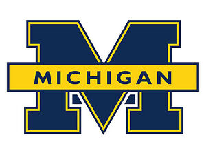 "Michigan Wolverines NCAA Indoor - Outdoor - Car- Truck - Window 4"" x 6.5"""