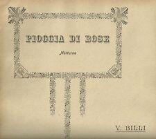 Spartito Musicale Pioggia di Rose Notturno per Pianoforte di Vincenzo Billi 1900