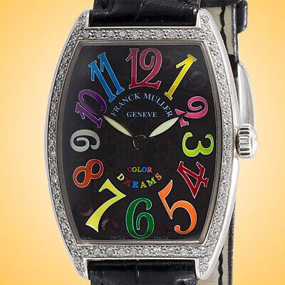 Franck Muller Cintree Curvex Color Dreams Diamonds Stainless Steel Ladies Watch