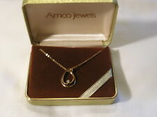 ...Amco Jewels...14K Gold Filled,Diamond Pendant Necklace...