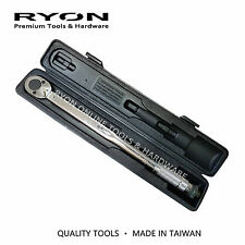 """1/2"""" Micrometer Torque Ratchet Wrench Torq 20-150FtLb ClickType DuelScale Taiwan"""
