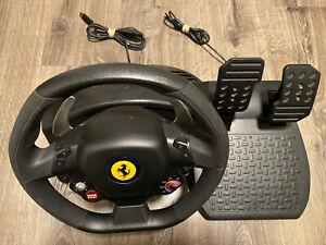Thrustmaster Ferrari 458 RW Xbox 360 Racing gaming System Video Not Tested