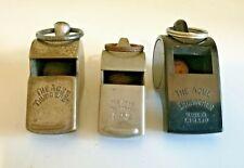 3x Vintage ' The Acme Thunderer ' Whistles - Different Variations
