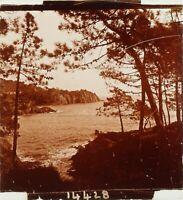 FRANCE Côte d'Azur L'Esquillon, Photo Stereo Plaque Verre ca 1910