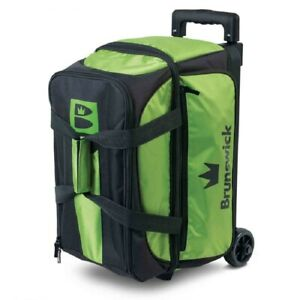 Brunswick Blitz 2 Ball Roller Bowling Bag Color Green