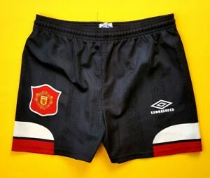 Manchester United kids shorts vintage retro football soccer Umbro ig93