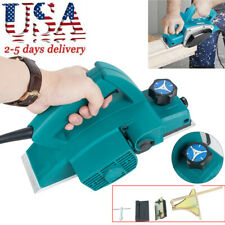 Usa Powerful Electric Wood Planer Door Plane Hand Held Woodworking Power Surface