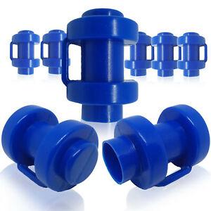 8x Trampoline Trampolino Net Pole End Caps Tapas Tappi embouts Ø 25 MM Blue NEW