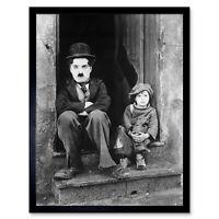 Silent Movie Still Charlie Chaplin The Kid Photo Wall Art Print Framed 12x16