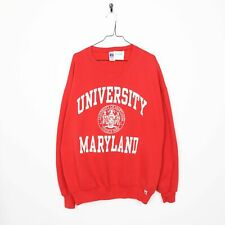 Vintage RUSSELL ATHLETIC USA Maryland Sweatshirt Red | 2XL