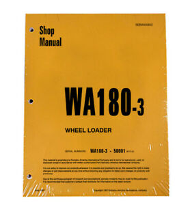 Komatsu WA180-3 Wheel Loader Workshop Repair Service Manual - Part # SEBD005802