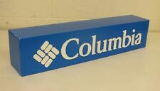 "Columbia Blue 6x6.5x30"" Blue Corrugated Paper Board Display Sign Plastic Letters"