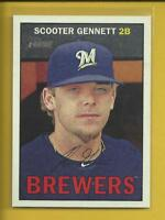 Scooter Gennett 2016 Topps Heritage Card # 141 Cincinnati Reds Baseball MLB