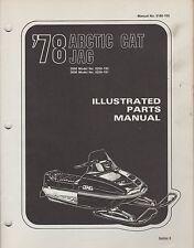 1978 ARCTIC CAT SNOWMOBILE JAG 2000,3000 P/N 0185-102 PARTS MANUAL (052)