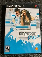 SINGSTAR POP - PS2 - COMPLETE W/MANUAL - FREE S/H - (A)