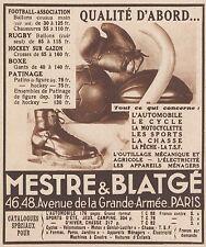 Z9677 MESTRE & BLATGE' - Rugby - Boxe -  Pubblicità d'epoca - 1934 Old advert