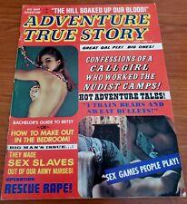 ADVENTURE TRUE STORY Men Magazine June 1971 GGA Nudist Maupassant K. D. Curtis