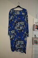 Stunning Masai Blue Floral Dress, Size XLarge UK 18 New £94, Slightly Loose
