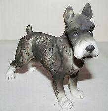 Vintage Schnauzer Dog Lefton #5275 Porcelain Figurine Mid Century -Detailed Pics