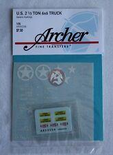 Archer 1/35 GMC CCKW US Army 2½Ton 6x6 Cargo Truck WWII Generic Markings AR35236