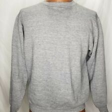 Vintage 70s Russell Mills Athletic Gray Sweatshirt 50/50 Blend Super Soft USA