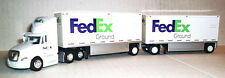 1:87 HO FedEx Ground Freightliner Cascadia Tractor w/28' Doubles Tonkin #FX8164