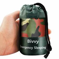 Camouflage Waterproof Reusable Emergency Sleeping Bag Thermal Survival Camping