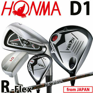 Aus Japan HONMA Golf Japan D1 Club full set 1w,5w,#5,6,7,8,9,Pw,Sw,Pt Flex-R