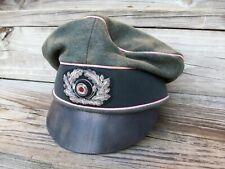 "WW2 GERMAN HEER PANZER OFFICER ""CRUSHER CAP"" WOOL MADE...(NICE REPRO)"