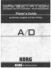 Korg Wavestation A/D Manuale In Inglese