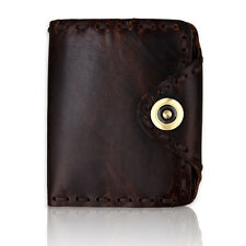 Retro Style Real Leather Men's Bifold Wallet Credit Card Holder Front Pocket NEW